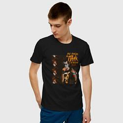 Футболка хлопковая мужская Панк не опозорим цвета черный — фото 2
