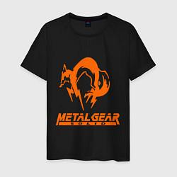 Футболка хлопковая мужская Metal Gear Solid Fox цвета черный — фото 1