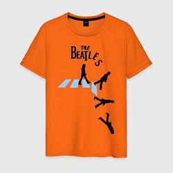 Футболка хлопковая мужская The Beatles: break down цвета оранжевый — фото 1
