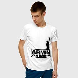 Футболка хлопковая мужская Armin van buuren цвета белый — фото 2