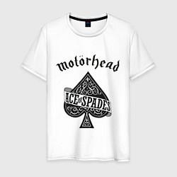 Футболка хлопковая мужская Motorhead: Ace of spades цвета белый — фото 1
