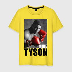 Футболка хлопковая мужская Mike Tyson цвета желтый — фото 1