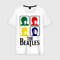 Футболка хлопковая мужская The Beatles: Colors цвета белый — фото 1