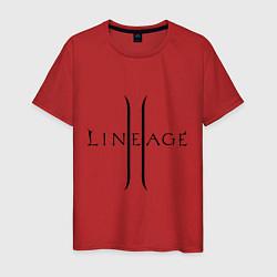 Футболка хлопковая мужская Lineage logo цвета красный — фото 1