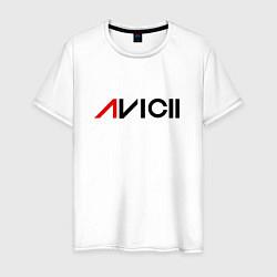 Футболка хлопковая мужская Avicii цвета белый — фото 1
