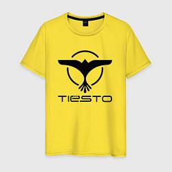 Футболка хлопковая мужская Tiesto цвета желтый — фото 1