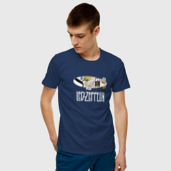 Футболка хлопковая мужская Led Zeppelin цвета тёмно-синий — фото 2
