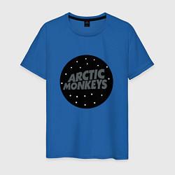 Футболка хлопковая мужская Arctic Monkeys: Black цвета синий — фото 1