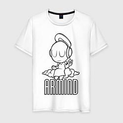 Мужская хлопковая футболка с принтом Armind, цвет: белый, артикул: 10061115500001 — фото 1