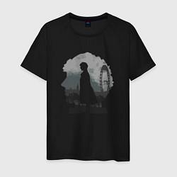Футболка хлопковая мужская Sherlock World цвета черный — фото 1