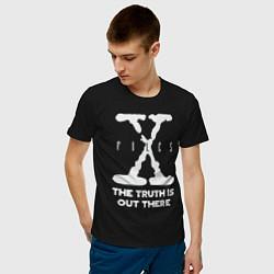 Футболка хлопковая мужская X-Files: Truth is out there цвета черный — фото 2