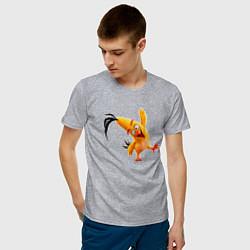 Футболка хлопковая мужская Чак-птица цвета меланж — фото 2