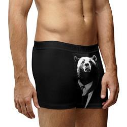 Трусы-боксеры мужские Медведь бизнесмен цвета 3D-принт — фото 2