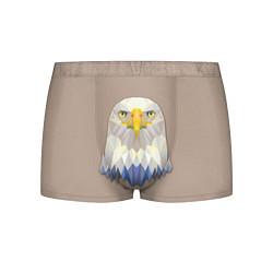Трусы-боксеры мужские Геометрический орел цвета 3D-принт — фото 1