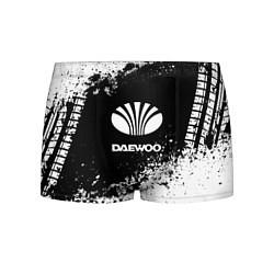 Трусы-боксеры мужские Daewoo: Black Spray цвета 3D-принт — фото 1