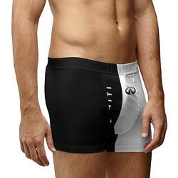 Трусы-боксеры мужские Infiniti: Black & White цвета 3D-принт — фото 2
