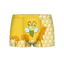 Трусы-боксеры мужские Веселая пчелка цвета 3D-принт — фото 1