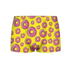 Трусы-боксеры мужские Пончики Гомера цвета 3D — фото 1