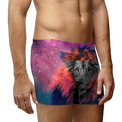 Трусы-боксеры мужские Космический лев цвета 3D-принт — фото 2