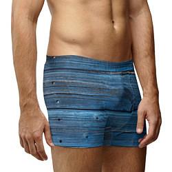 Трусы-боксеры мужские Голубые доски цвета 3D — фото 2