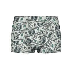 Трусы-боксеры мужские Банкноты цвета 3D-принт — фото 1