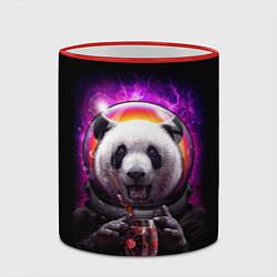 Кружка 3D Panda Cosmonaut цвета 3D-красный кант — фото 2