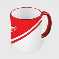 Кружка 3D NHL: Detroit Red Wings цвета 3D-красный кант — фото 1