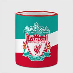 Кружка 3D Liverpool: You'll never walk alone цвета 3D-красный кант — фото 2