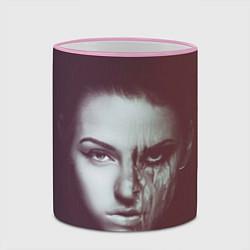 Кружка 3D Chelsea Grin: Death Girl цвета 3D-розовый кант — фото 2