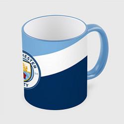 Кружка 3D FC Manchester City: Colors цвета 3D-небесно-голубой кант — фото 1