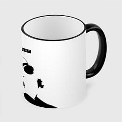 Кружка 3D Скриптонит Ч/Б цвета 3D-черный кант — фото 1