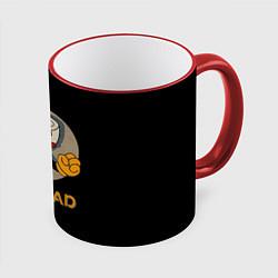 Кружка 3D Cuphead: Mugman цвета 3D-красный кант — фото 1