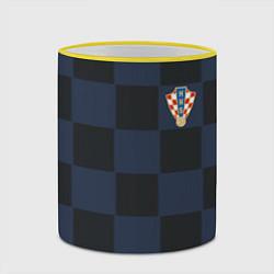 Кружка 3D Сборная Хорватии: Гостевая ЧМ-2018 цвета 3D-желтый кант — фото 2