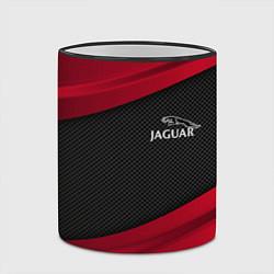 Кружка 3D Jaguar: Red Sport цвета 3D-черный кант — фото 2