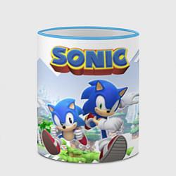 Кружка 3D Sonic Stories цвета 3D-небесно-голубой кант — фото 2