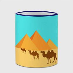 Кружка 3D Пирамиды Египта цвета 3D-синий кант — фото 2
