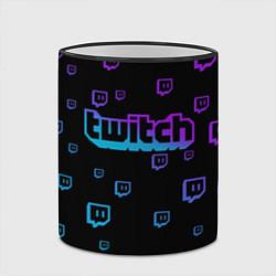 Кружка 3D Twitch: Neon Style цвета 3D-черный кант — фото 2