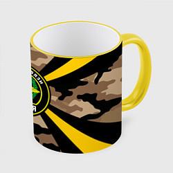 Кружка 3D Войска связи цвета 3D-желтый кант — фото 1