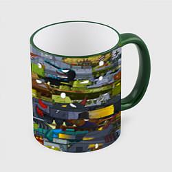 Кружка 3D Геранд шоп-Мир танков цвета 3D-зеленый кант — фото 1