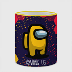 Кружка 3D AMONG US АМОНГ АС цвета 3D-желтый кант — фото 2