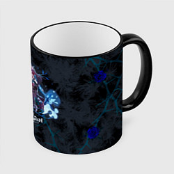 Кружка 3D Genshin Impact - Rosaria цвета 3D-черный кант — фото 1