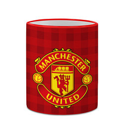 Кружка 3D Manchester United цвета 3D-красный кант — фото 2