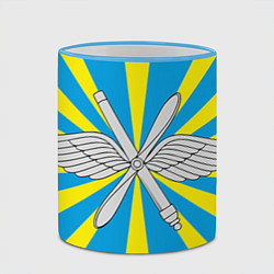 Кружка 3D Флаг ВВС цвета 3D-небесно-голубой кант — фото 2