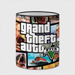 Кружка 3D GTA 5: City Stories цвета 3D-черный кант — фото 2