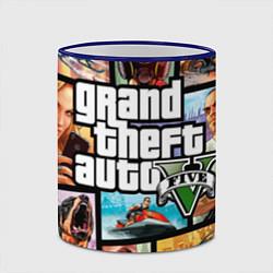 Кружка 3D GTA 5: City Stories цвета 3D-синий кант — фото 2