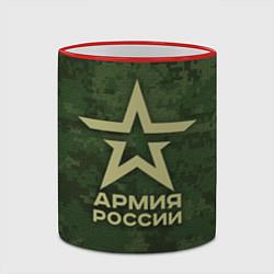Кружка 3D Армия России цвета 3D-красный кант — фото 2