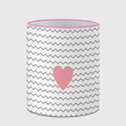 Кружка 3D Маленькая любовь цвета 3D-розовый кант — фото 2