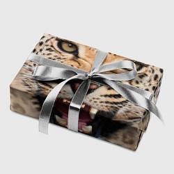 Бумага для упаковки Взгляд леопарда цвета 3D-принт — фото 2