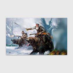 Бумага для упаковки Русский воин на медведе цвета 3D — фото 1