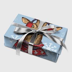 Бумага для упаковки Зимний олень цвета 3D-принт — фото 2